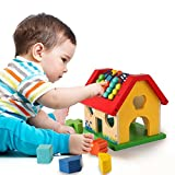 #7: Pigloo Wooden Activity Abacus Counting Toy for Babies and Toddlers Ages 1+ Years