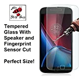 Shop Buzz Tempered Glass Screen Guard for Motorola G4 Plus (Designed for Moto G4 +) Amazon