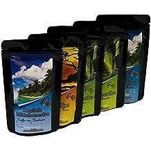 Geschenk Set - Länder Kaffee aus aller Welt - Kaffeebohnen im Geschenkkarton , das perfekte Geschenk (100g/6,21€)