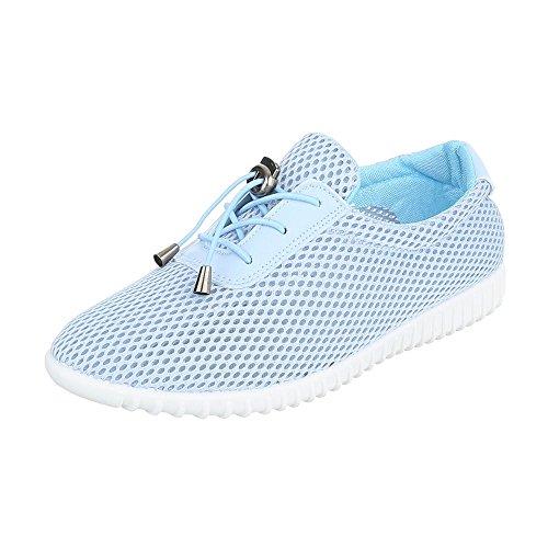 Sneaker Low-top Da Donna Low-top Arioso Leggero Con Lacci Ital-design Scarpe Casual Azzurro