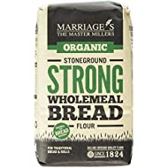 Marriages Organic Strong Stoneground Wholemeal Bread Flour 1 kg (Pack of 6)