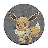 Yellownn Pokémon Go Évolie Round Paillasson/Tapis d'entrée Tapis de sol Paillasson