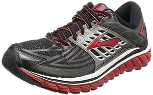 Brooks Glycerin 14, Men's Competition Running Shoes, Black (Black/high Risk Red/anthracite), 9 UK (44 EU)