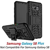Dream2Cool FOR Samsung Galaxy S8 Plus Tough Hybrid Flip Kick Stand Spider Hard Dual Shock Proof Rugged Armor Bumper Back Case Cover For Samsung Galaxy S8 Plus (BLACK)