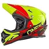O'Neal Backflip RL2 Helm Burnout Mountain Bike DH FR MTB BMX Downhill Fahrrad Magnetverschluss, 0500-1, Farbe Gelb Rot, Größe S