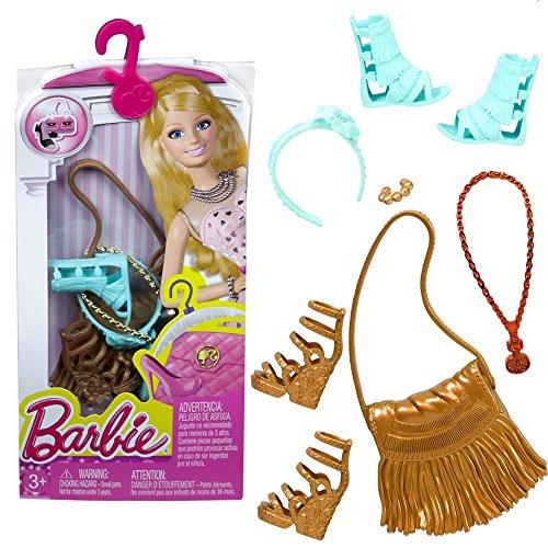 Barbie - Schuhe, Handtasche, Schmuck - Accessoires Set für Barbie Puppe CFX31
