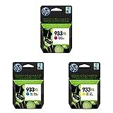 HP 933XL Original Druckerpatronen mit hoher Reichweite für HP Officejet, magenta/ cyan/ gelb