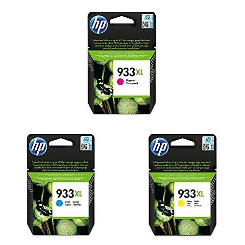 uckerpatronen mit hoher Reichweite für HP Officejet, magenta/ cyan/ gelb ()