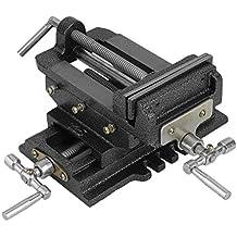 Máquina de mesa 2ejes Cruz Tornillo de banco (150mm, ajustable Ancho 115mm, Horizontal Hub 130mm, guía de cola de milano nachstellbar, Massive construcción, estable), color negro