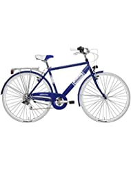 """"""" ADRIATICA Bicicleta Con Cambio de 6 V Modelo PANAREA MAN Color Blanco y Azul"""