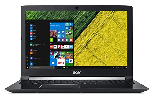 "Acer Aspire 7 A715-71G-71Q5 Notebook con Processore Intel Core i7-7700HQ, RAM da 16 GB DDR4, 256 Intel PCIe SSD, Display 15.6"" FHD IPS LED LCD, Scheda grafica NVIDIA GeForce GTX 1050Ti 4GB GDDR5, Nero"