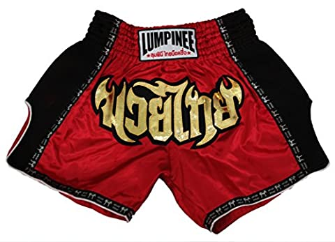 Lumpinee rétro Muay Thai Fight Kick boxing Short XL Red