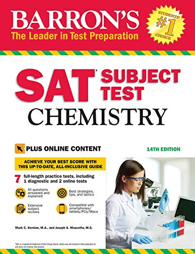 Barron\'s SAT Subject Test: Chemistry with Online Tests