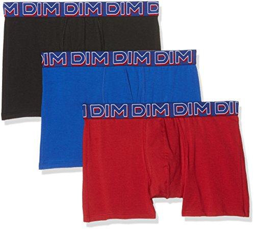 Dim - Power Full - Boxer - Uni - Lot de 3 - Homme - Multicolore (Rouge Chili/Bleu Outremer/Noir) - X-Large (Taille fabricant: 5)
