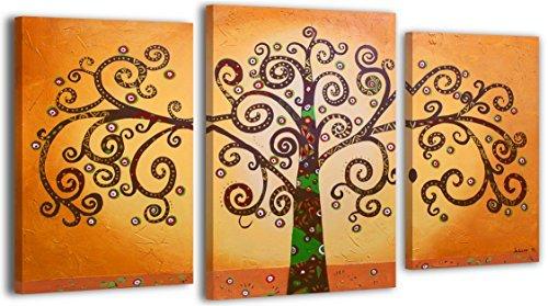 100% LABOR A MANO + certificado/ Árbol de la vida 2/ El cuadro dibujado con pinturas acrílicas/ cuadros sobre el lienzo con bastidor de madera/ cuadro dibujado a mano/ montaje cómodo sobre la pared / Arte contemporáneo/ 130x80 cm