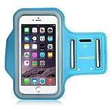 MoKo Sports Armband per iPhone 6 Plus / iPhone 6s Plus 5.5 Inch - Bracciale Resistente all'acqua, Prova di sudore, AZZURRO (Taglie L, Compatibile con i cellulari 5.7 Inch)