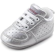 9e1a6d9eba6b6 DELEBAO Zapatillas de Niño Zapatos para Bebé Primeros Pasos Calzado de Bebes  Zapato con Cordones y