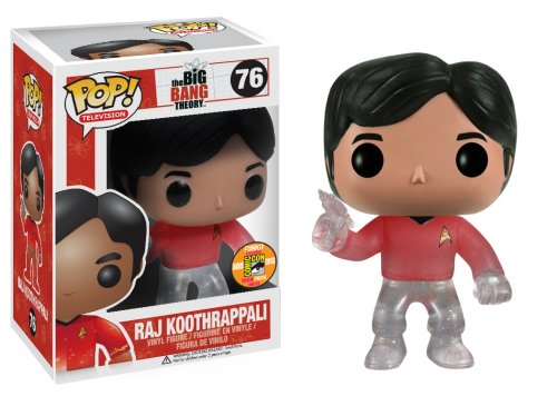 Big Bang Theory Pop TV Star Trek Raj Red Shirt With Gun SDCC 2013 Exclusive