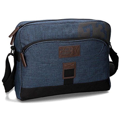 Pepe Jeans Worn 73 Mochila Tipo Casual, 13.3 Litros, Color Azul