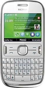 Nokia Asha 302 smartphone -  Ecran 6,1 cm -2,4 pouces -  Appareil photo 3,2 mégapixels - UMTS - Blanc