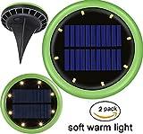 2 Stück Solarstrom LED Bodenlichter Verbesserte Version, Latta Alvor Weg Solarleuchten 8 LED Sonnengarten Wegeleuchten für Outdoor Solar Landschaftsweg
