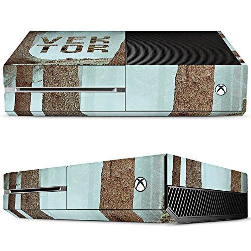 microsoft-xbox-one-case-skin-sticker-aus-vinyl-folie-aufkleber-wald-baume-vektor
