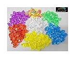 #9: Happie Shop HS Aquatics Aquarium Multi Crystal Mix Decorative Stones - 500 Grams Approx.