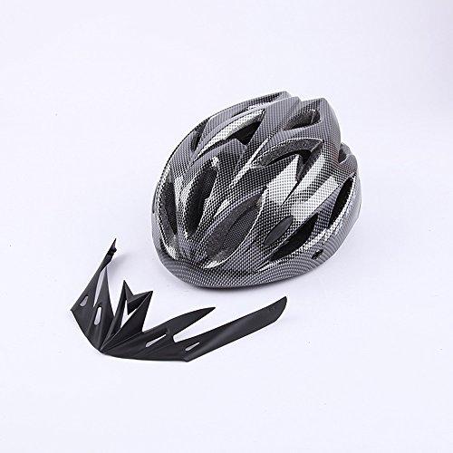 Qarape Outdoor Sports Multi-Use Fahrradhelm mit Visier Schild Safety Protective Fahrradhelm Adjustable Road & Mountain Biking Fahrradhelme Comfort Leichtgewicht Atmungsaktive Reithelm Geeignet für Erwachsene männlich / weiblich (Visier Schaum Sport)