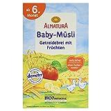 Alnatura Bio Baby-Müsli Getreidebrei mit Früchten, ab 6. Monat, 250 g