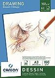 Canson 200005780 - Carta da disegno, formato A3, 160 g/m², 20 fogli, colore: bianco