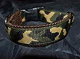 Hunde Halsband Mustergurtband Camouflage