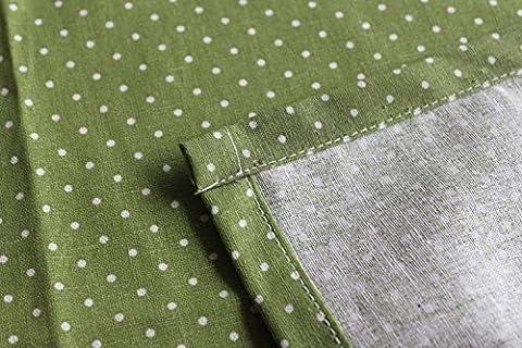 JY$ZB Nappe pois table tissu coton tissu impression cuisine fournitures , 140*220