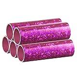 Pinke Metallic Luftschlangen im 5er Sparpack - 5 Rollen mit je 18 holografisch-glitzernden Luftschlangen - für Karneval, Fasching, Geburtstag, Silvester, Dekoration Rosa - PARTYMARTY GMBH®