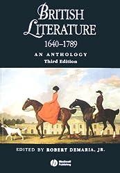 British Literature 1640-1789: An Anthology (Blackwell Anthologies)