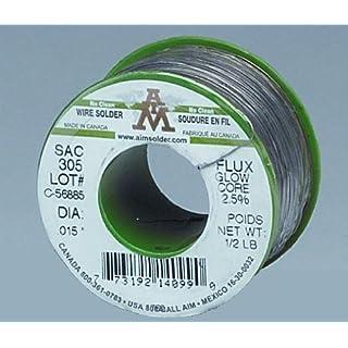 .062 60/40 Resin Core Solder Spool 1lb by Aim Solder