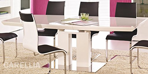 CARELLIA Table A Manger Design Extensible 180÷200 cm x 105 cm x 75 cm