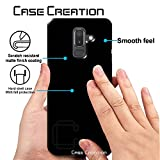 Case Creation Samsung J8 2018 Back case, Luxury Rubberised Matte Hard Case Back Cover for Samsung Galaxy J8 (2018) Color - Luxury Black