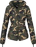 Marikoo Damen Jacke Winterjacke Steppjacke Amber (vegan hergestellt) Camouflage Gr. XXL