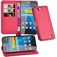 Huawei G7 Hülle in ROT von Cadorabo - Handyhülle mit Kartenfach und Standfunktion für Huawei G7 Case Cover Schutzhülle Etui Tasche Book Klapp Style in KARMIN ROT