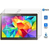 IVSO® 3 x Crystalclear Displayschutzfolie für Samsung Galaxy Tab S 10.5 Tablet Schutzfolie, Crystal Clear