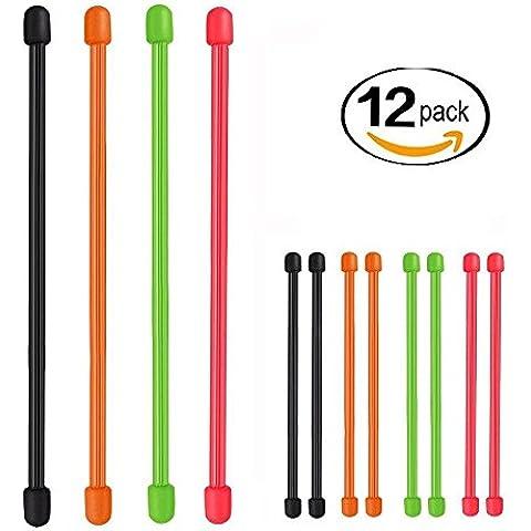 iroundy Gear Tie riutilizzabile (4, 8) in gomma legaccio, colori assortiti