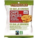 Ethiquable chips de banane plantain épicées 85g - ( Prix Unitaire ) - Envoi Rapide Et Soignée