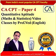 CA CPT Complete Maths & Statistics Video Lectures by Prof.Ved (English)