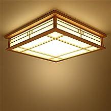 CHJK BRIHT Protokolle Der Japanischen Deckenleuchte Holz Wohnzimmer Schlafzimmer Studie Led Lampen Square Pergament