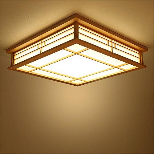 CHJK BRIHT Protokolle der Japanischen Deckenleuchte Holz- Wohnzimmer Schlafzimmer Studie led-lampen Square Pergament (Drum Lampenschirme Nur)