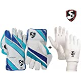 SG Club Keeping Gloves Combo - Men's (SG Club Wicket Keeping Gloves ,Men's + SG Club Inner Gloves, Men's)