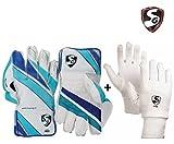 #9: SG Club Keeping Gloves Combo - Men's (SG Club Wicket Keeping Gloves ,Men's + SG Club Inner Gloves, Men's)