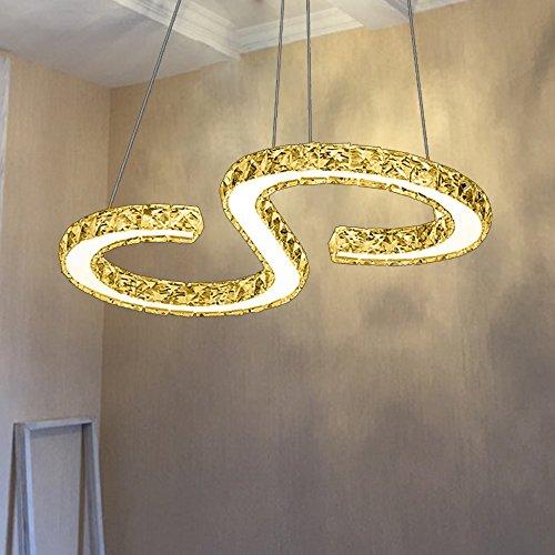 Fantastisch VINGO LED Pendelleuchte, Esstisch Hängelampe Wohnzimmer Küche  LED Pendellampe Moderne Aluminium Hängeleuchte ,Warm