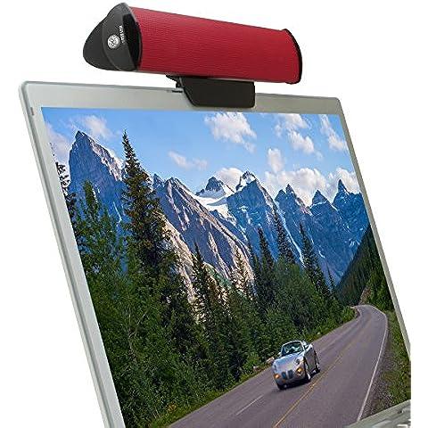 GOgroove SonaVERSE Altavoz Portátil USB Barra Ordenador para Lenovo Z50-75 HP 200 250 G4 HP Stream Asus X556UJ F540SA F540LA X540LA Lenovo Ideapad G50-80 Acer Aspire Macbook Pro Air HP Pavilion y