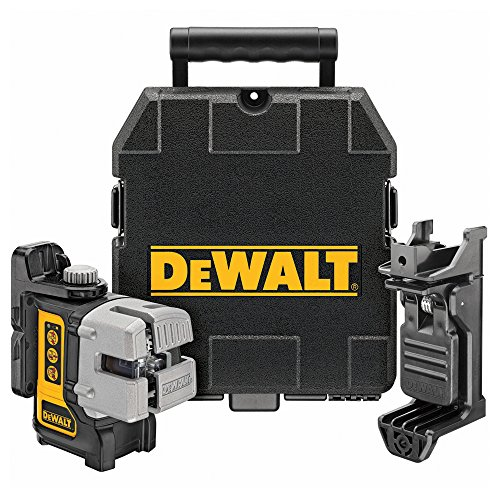 Best laser level for professionals - DeWalt 3-Way Self-Levelling Ultra Bright Multi-Line Laser - One of the best laser levels by a mile, we recommend adding a floor to ceiling pole to really get the most of it. Very easy to use with only 3 buttons and does so much more than the cheaper alternative models.